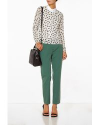 Band Of Outsiders Flat Front Pant - Lyst