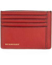 Burberry London Leather Bernie Card Case - Lyst