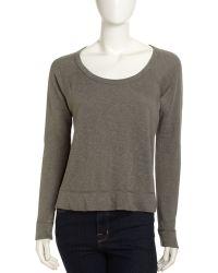 James Perse Raglan Sleeve Pullover - Lyst