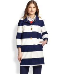 Kate Spade Franny Striped Coat - Lyst