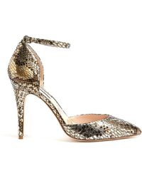 Lucy Choi London Islington Snake Print Leather High Heel - Lyst