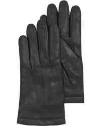 Moreschi - Black Leather Mens Gloves Wcashmere Lining - Lyst