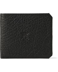 Parabellum - Embossed Full-Grain Bison Leather Billfold Wallet - Lyst