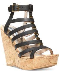 Steve Madden Indyanna Platform Wedge Sandals - Lyst