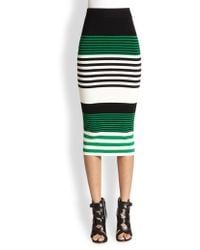 Torn - Ronny Striped Stretch Jersey Pencil Skirt - Lyst