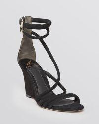 B Brian Atwood Wedge Sandals Sedini - Lyst