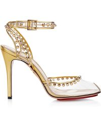 Charlotte Olympia Soho Opentoe Pump in Transparent Gold - Lyst