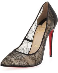 Christian Louboutin Pigalace Peep-Toe Pump - Lyst