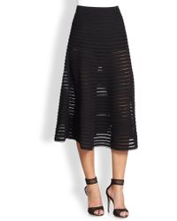 Cynthia Rowley Paneled Illusion Midi Skirt - Lyst