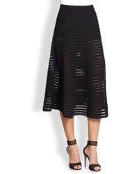 Cynthia Rowley | Paneled Illusion Midi Skirt | Lyst