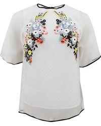 Erdem - Oversize Embroidered Voni Top - Lyst