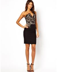 Hybrid Bandeau Pencil Dress with Plunge Neck - Lyst