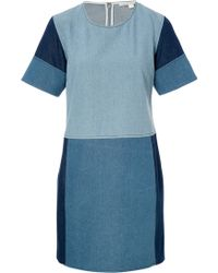 Jonathan Simkhai Patchwork Denim Dress - Lyst