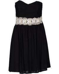 Rare London Short Dress black - Lyst
