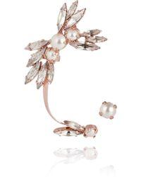 Ryan Storer | Rose Goldplated Swarovski Crystal and Pearl Ear Cuff | Lyst