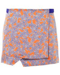 Thakoon Addition - Floral Print Wrap Skirt - Lyst