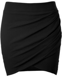 Helmut Lang Crepe Twisted Mini Skirt - Lyst