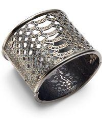 Judith Leiber - Swarovski Crystal Hematite Bracelet - Lyst