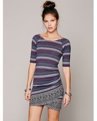 Free People Border Print Bodycon - Lyst