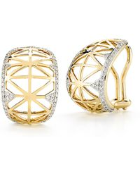 Ivanka Trump - Liberté Diamond Huggie Hoop Earrings - Lyst