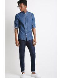 21men Clean Dark Wash - Slim Fit Jeans - Lyst