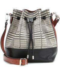 Proenza Schouler Medium Fabric and Leather Bucket Bag - Lyst