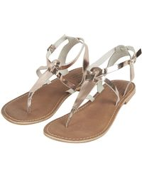 Topshop Horizon Toe Post Sandals - Lyst