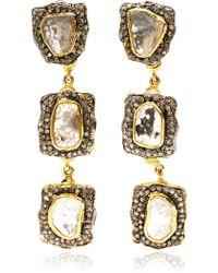 Kirat Young - Diamond Earrings - Lyst
