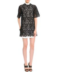 Valentino Short-sleeve Guipure Lace Tunicdress - Lyst