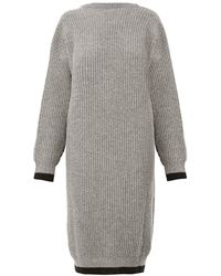 Maison Margiela Ribbed-Knit Wool Dress - Lyst