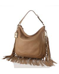 Lauren by Ralph Lauren Fleetwood Leather Hobo Bag - Lyst