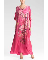 Natori Couture Montones Caftan pink - Lyst