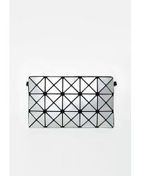 Missguided Geometric Clutch Silver - Lyst