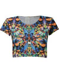 Blue Man - Butterfly Crop Top - Lyst