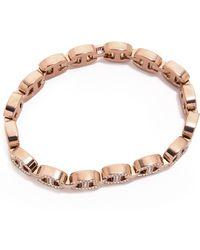 Michael Kors Martime Pave Link Line Bracelet - Rose Goldclear - Lyst