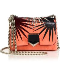 Jimmy Choo | Lockett Starburst Suede, Snakeskin & Leather Crossbody Bag | Lyst