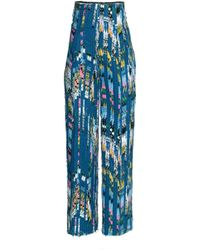 H&M Blue Patterned Trousers - Lyst