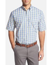 Cutter & Buck 'Bradshaw Check' Classic Fit Short Sleeve Sport Shirt - Lyst