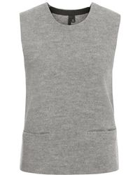 TOPSHOP - Merino Wool Sleeveless Vest By Boutique - Lyst