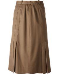 Jean Louis Scherrer Vintage Mid-Length Skirt - Lyst