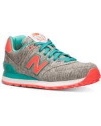 New Balance Women'S 574 Glitch Casual Sneakers From Finish Line - Lyst