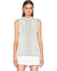 b7a805cd8b524 Proenza Schouler - Weaving Jacquard Sleeveless Crewneck Sweater - Lyst