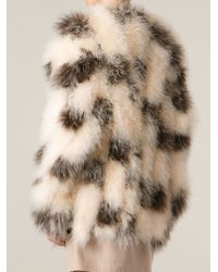 Chloé Polka Dot Feathered Coat - Lyst