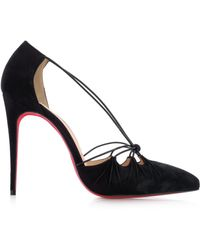 Christian Louboutin Riri 100Mm Suede Pumps - Lyst