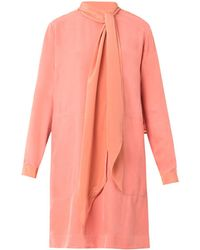See By Chloé Brushedcrepe Necktie Dress - Lyst