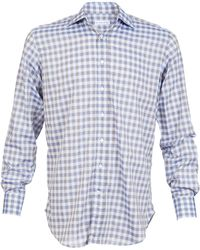 Etro Camica New Warrant Gingham Shirt - Lyst