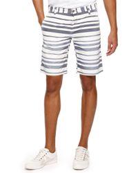 Boss Orange Sairy Shorts  Slim Fit Cotton Stripe Shorts - Lyst