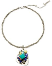 Kenneth Cole Multi-Stone Pendant Necklace - Lyst