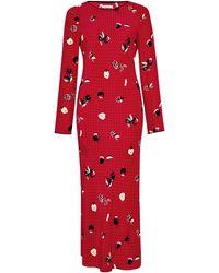 Piamita Andrea Printed Silk Satin Dress - Lyst