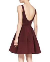 Zac Zac Posen Sleeveless Fullskirt Scoopback Dress - Lyst